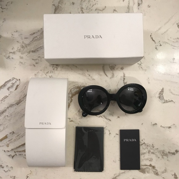 bdb6c87a2aa Authentic Black Prada Baroque Sunglasses. M 5b56a500cdc7f7d93be5f35e. Other  Accessories ...